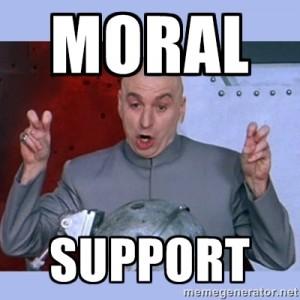 moral support meme