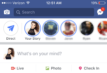 New Feature: Facebook Stories